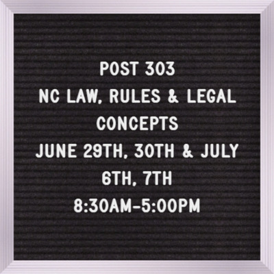 Post Licensing 303 June 29th & 30th, July 6th & 7th  8:30 am - 5:00 pm each day (Read Description for recommended supplies)