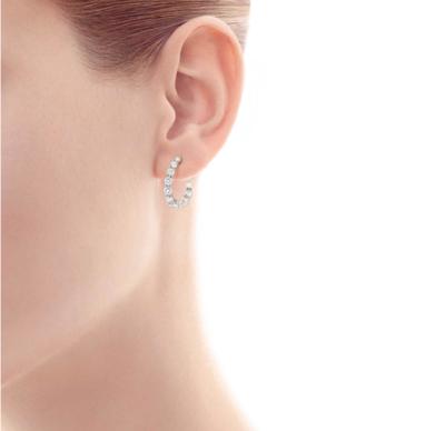 SAMPLE. Diamond Hoop Earrings