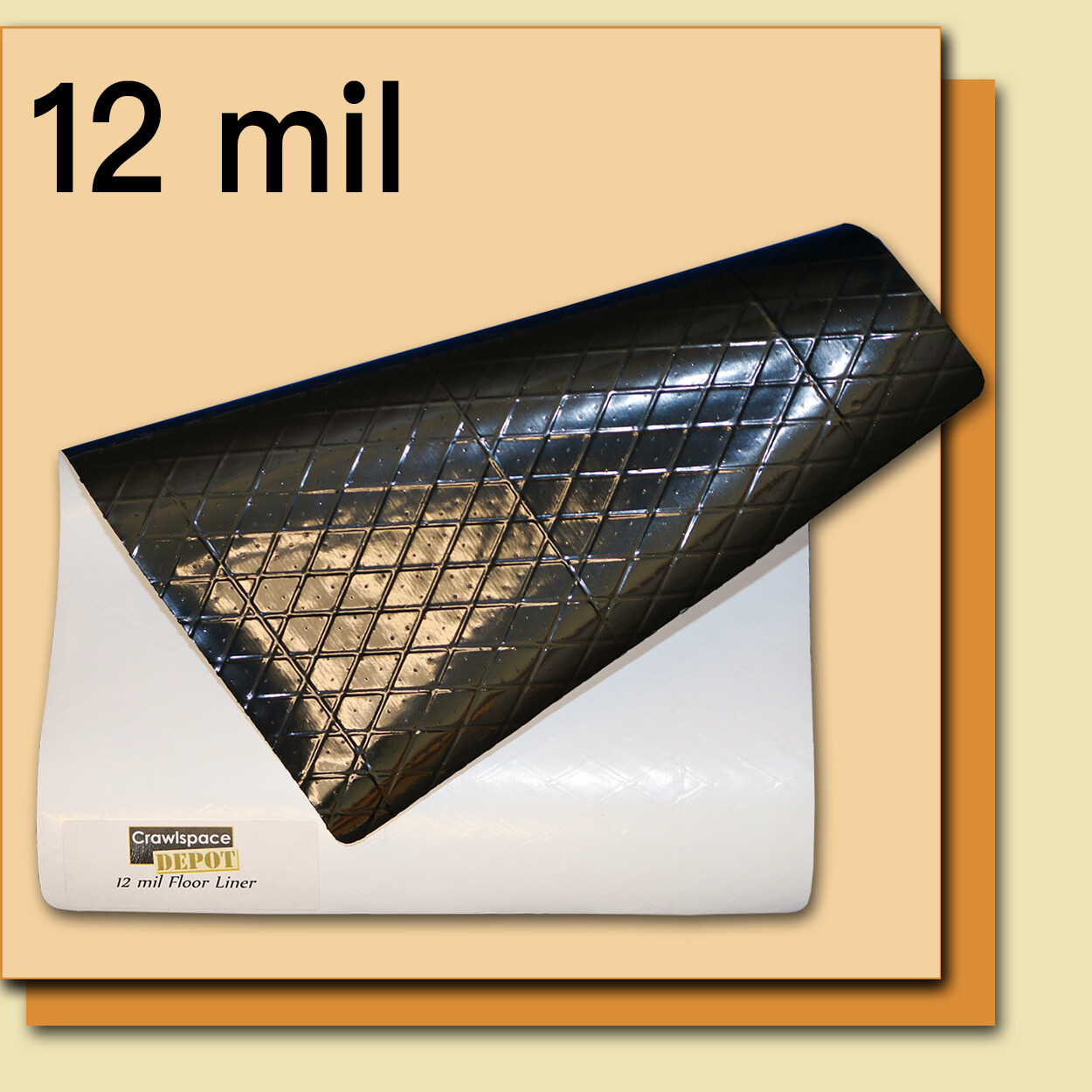 12 Mil Economy Crawl Space Liner (WB) - 12' x 100' Roll by Crawl Space Depot