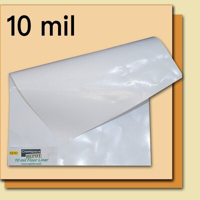 10 Mil Crawl Space Liner - 12' x 100' Roll - White By Crawl Space Depot