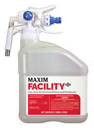 MAXIM Facility+ One Step Concentrated Disinfectant Cleaner and Deodorant (Case of 2, 3L jug w/dilution trigger) by Midlab