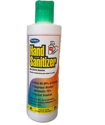 Hand Sanitizer (8 ounce, case of 24) by COM STAR