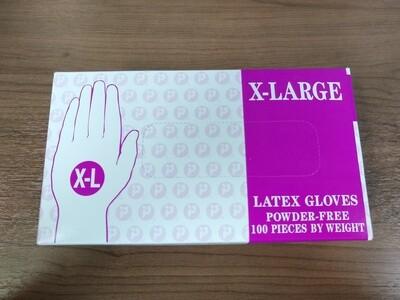 White Latex Gloves, Size XL, Box of 50 Pair
