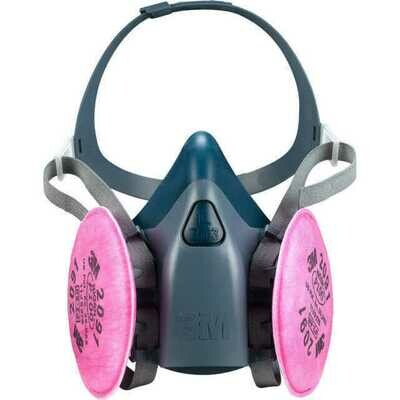 Half Face Respirator, 3M 7500 Series with P100 Cartridge