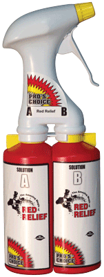 Red Relief Dual Chamber Sprayer (Empty) by CTI Pro's Choice | Metered Red Relief Sprayer