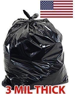 3 Mil Black Flap Tie Contractor Bags 42gl   20-Count