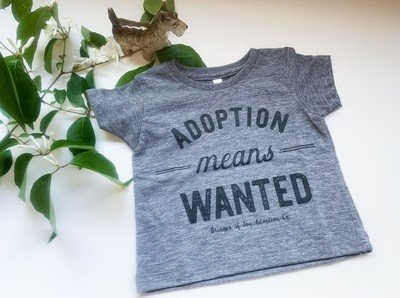 Adoption Means Wanted Shirt - Kids (3-6 Months)