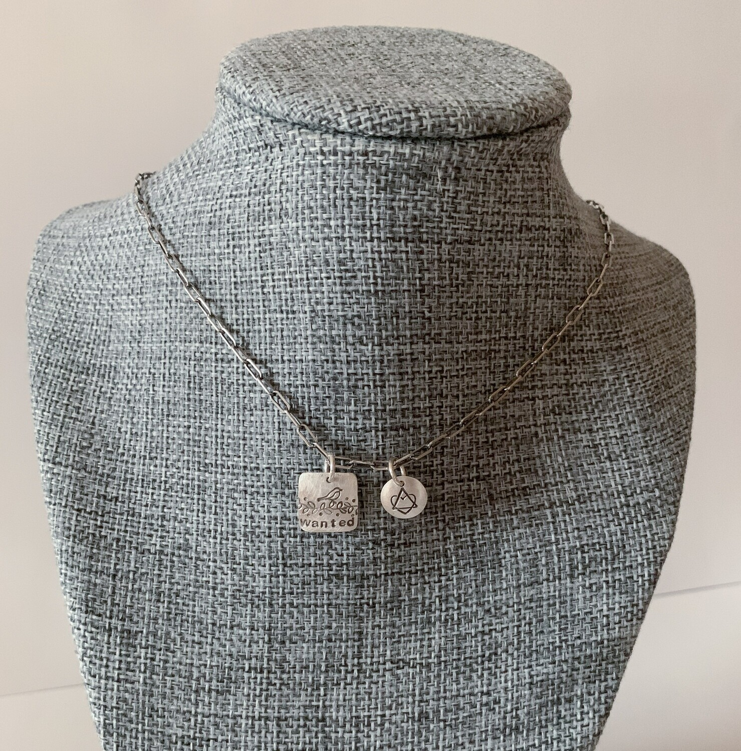 Adoption Means Wanted Necklace (Chain length 18 inches)