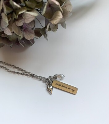 Birth Mom Strong Necklace