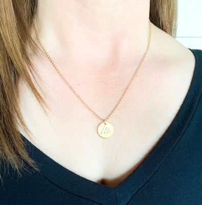 Gold Woven Together Pendant