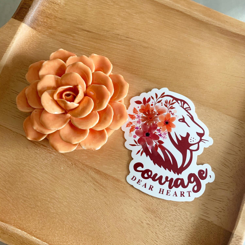 Courage, Dear Heart Vinyl Sticker