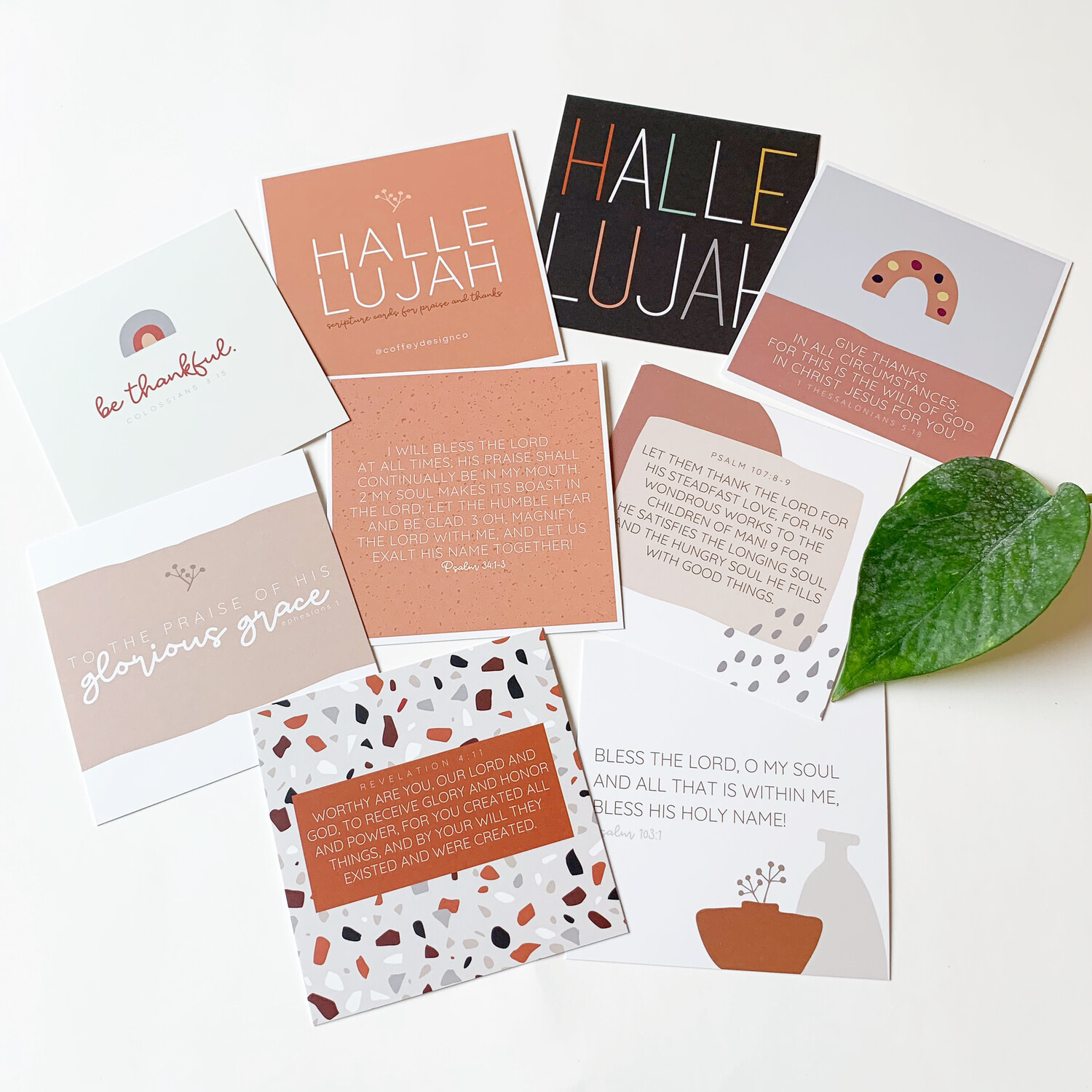 Praise and Thankfulness Scripture Cards