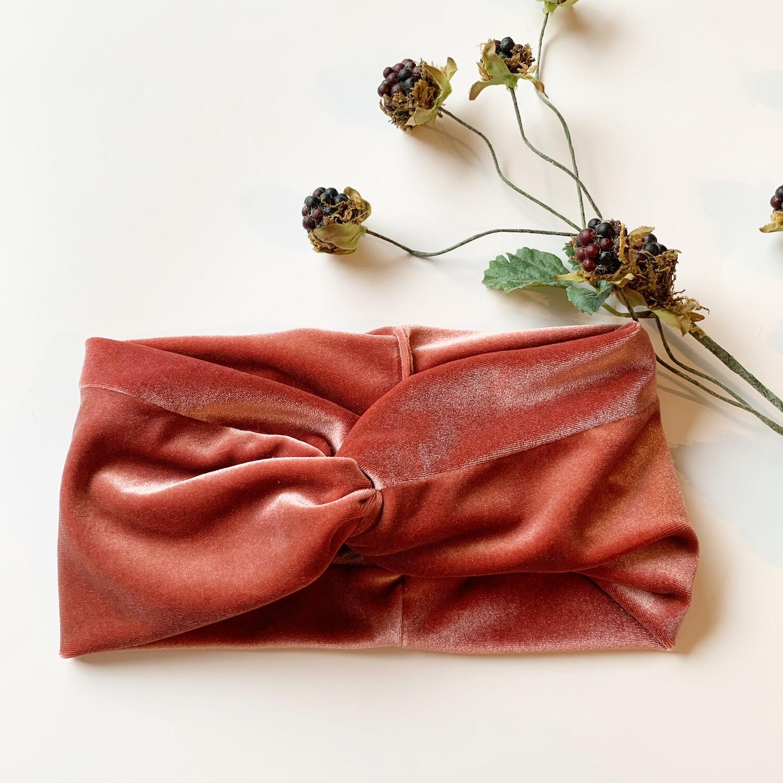 Raspberry Boho Turban Thick Wide Wrap - Adult
