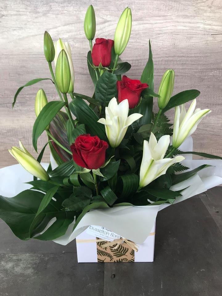Oriental & Rose Box Arrangement