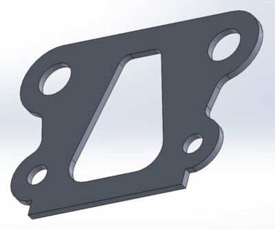 TLR 22 1mm SLRC Carbon Fiber Bulkhead Shim