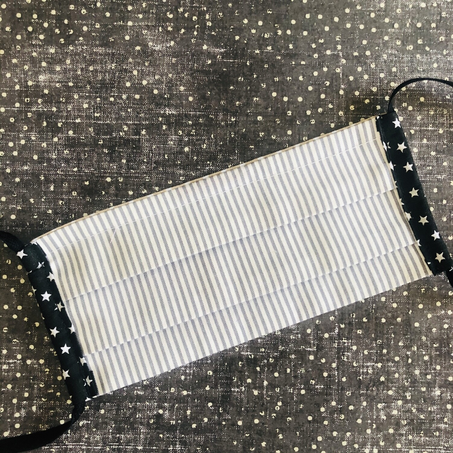 CHILD cotton face mask - Grey stripes (one of a kind!)