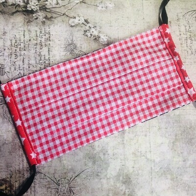 Face masks - Gingham prints (see listing for colour options)
