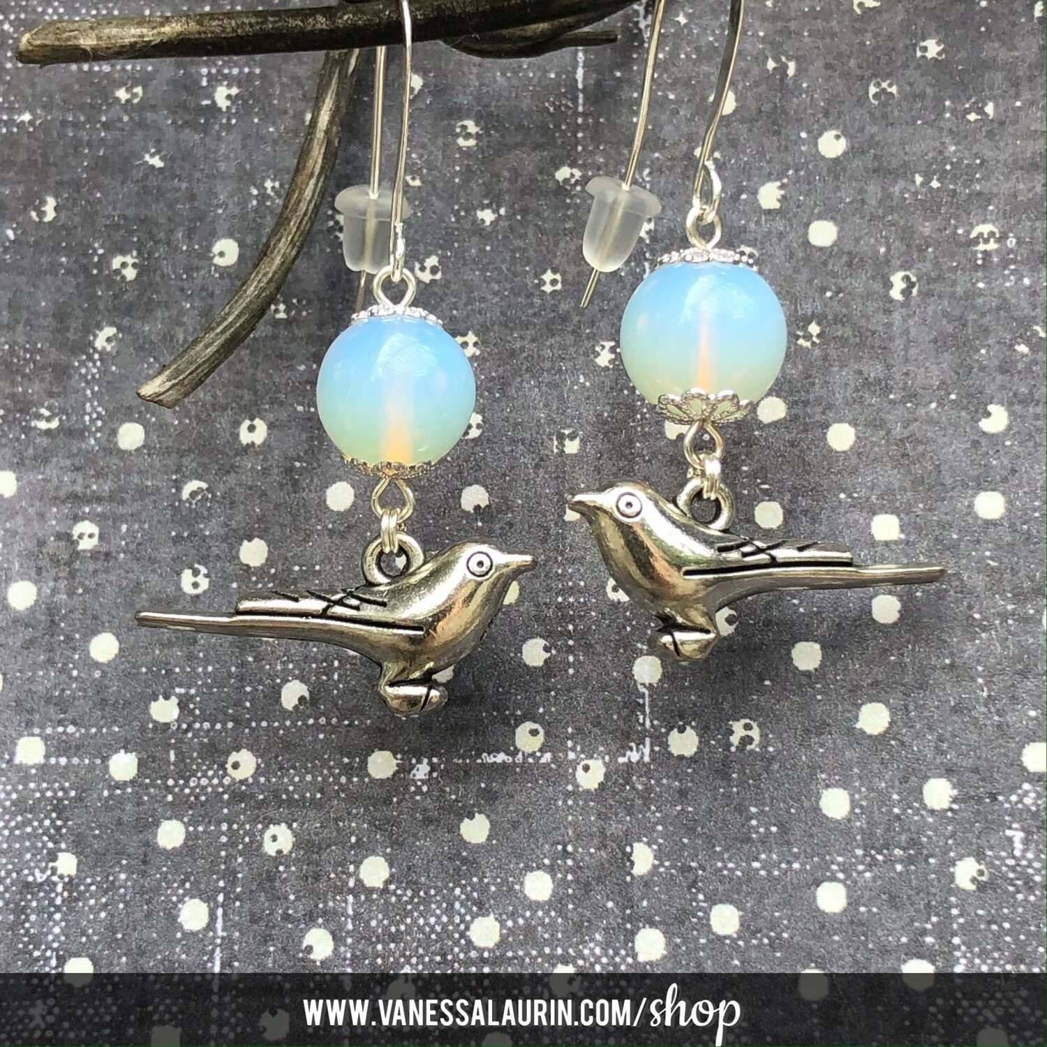 Moonbeams Collection: Opalite sparrow earrings
