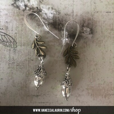 Woodland Whimsy Collection: Acorn earrings