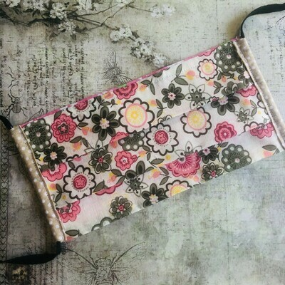 Face masks - Floral prints (see listing for colour options)