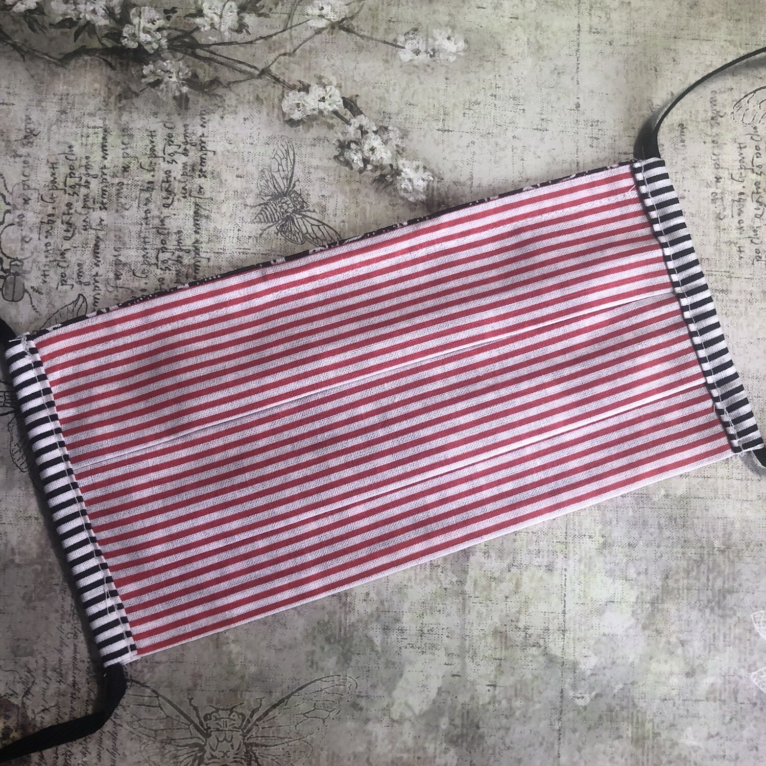 Face masks - Striped prints (see listing for colour options)
