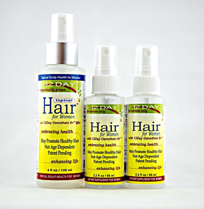 12Day Hair & 12Day Topical Hair Kit 4 month supply $32.50 per month