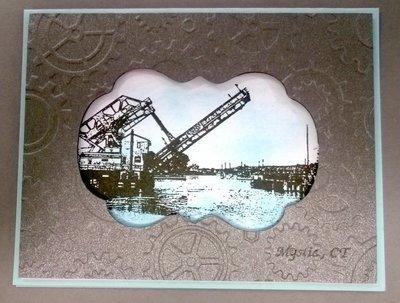 Mystic Bridge II Note Card with Envelope (6)