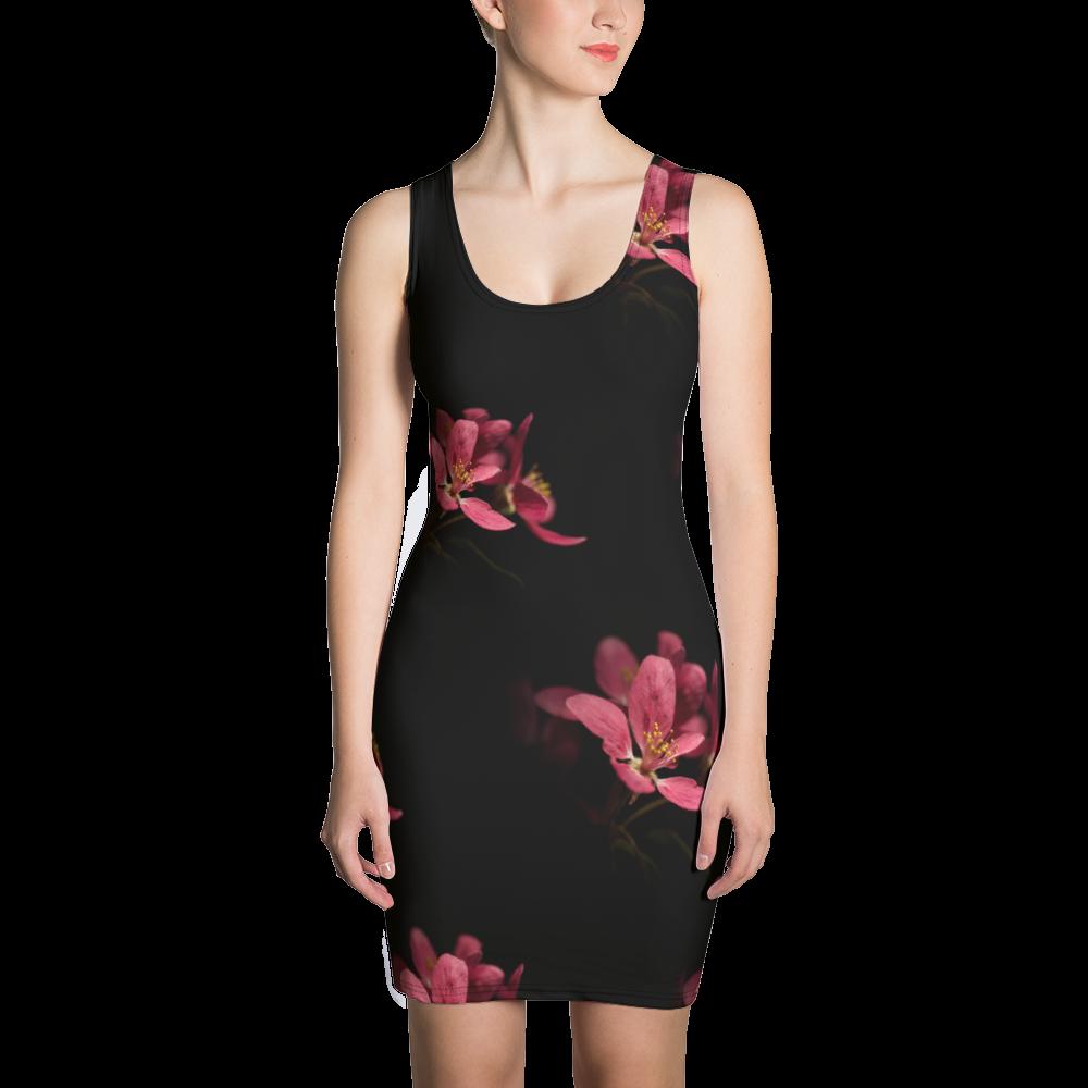 Plum blossom flowers - Bodycon Dress
