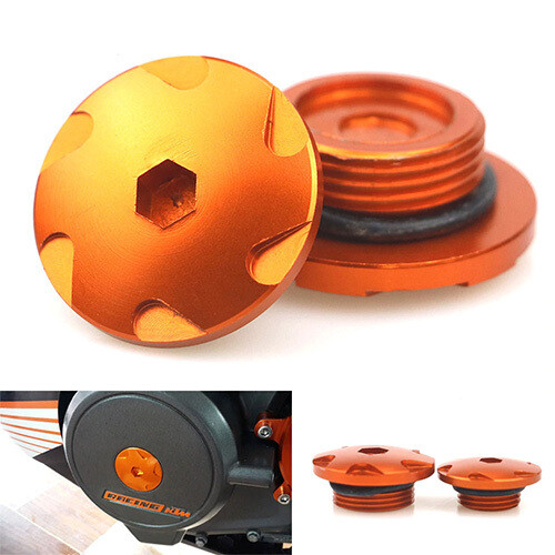 Orange Engine Filter Cap Covers Cup for KTM RC & DUKE