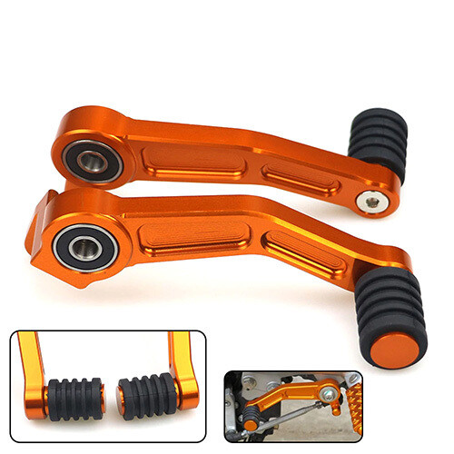Foot Brake Lever & Gear Shifting Lever Pair CNC Aluminum Pedal for KTM RC & Duke