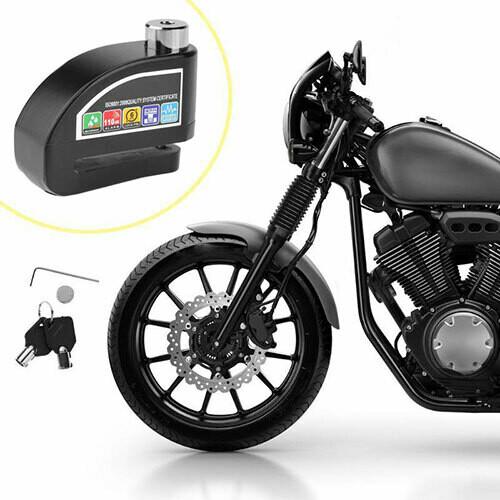 Motorcycle Anti Theft Wheel Disc Brake Lock with Security Alarm 110db