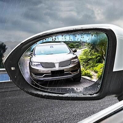 Anti Rain & Fog Film For Car & Bike Rear View Mirrors - pack of 2