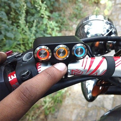 NEW 3 in 1 Motorcycle Handlebar Waterproof Switch (All working)