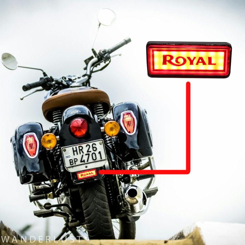 LED Rare Reflector Royal for Royal Enfield all bikes