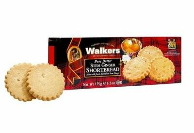 Walkers Ginger shortbread 175 gr
