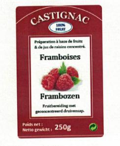 CASTIGNAC Framboos 250 gr