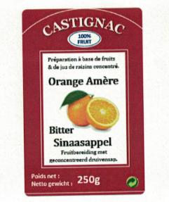 CASTIGNAC Bittere appelsien 250 gr