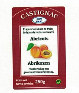 CASTIGNAC Abrikoos 250 gr