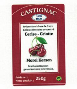 CASTIGNAC Morel kers 250 gr