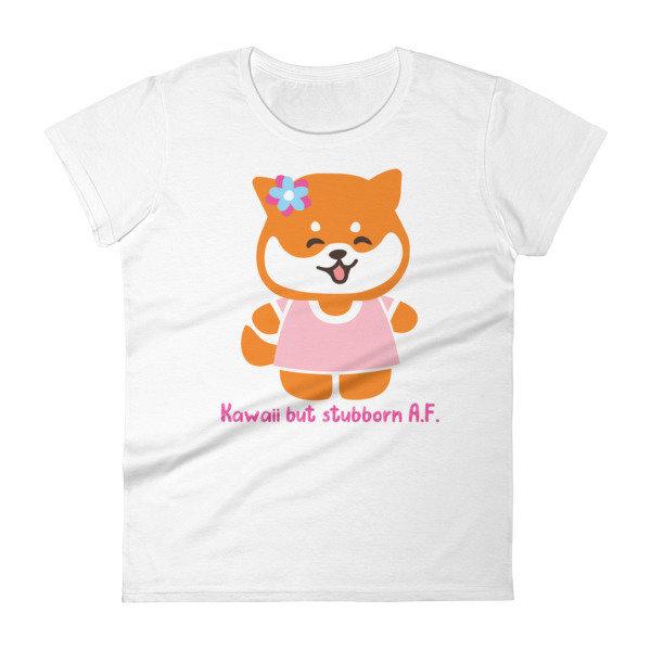 "Kawaii Shiba Co.'s ""Stubborn"" Women's short sleeve t-shirt"
