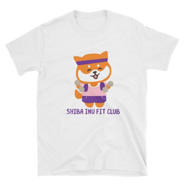 "Kawaii Shiba Co ""Shiba Inu Fit Club"" Short-Sleeve Unisex T-Shirt"