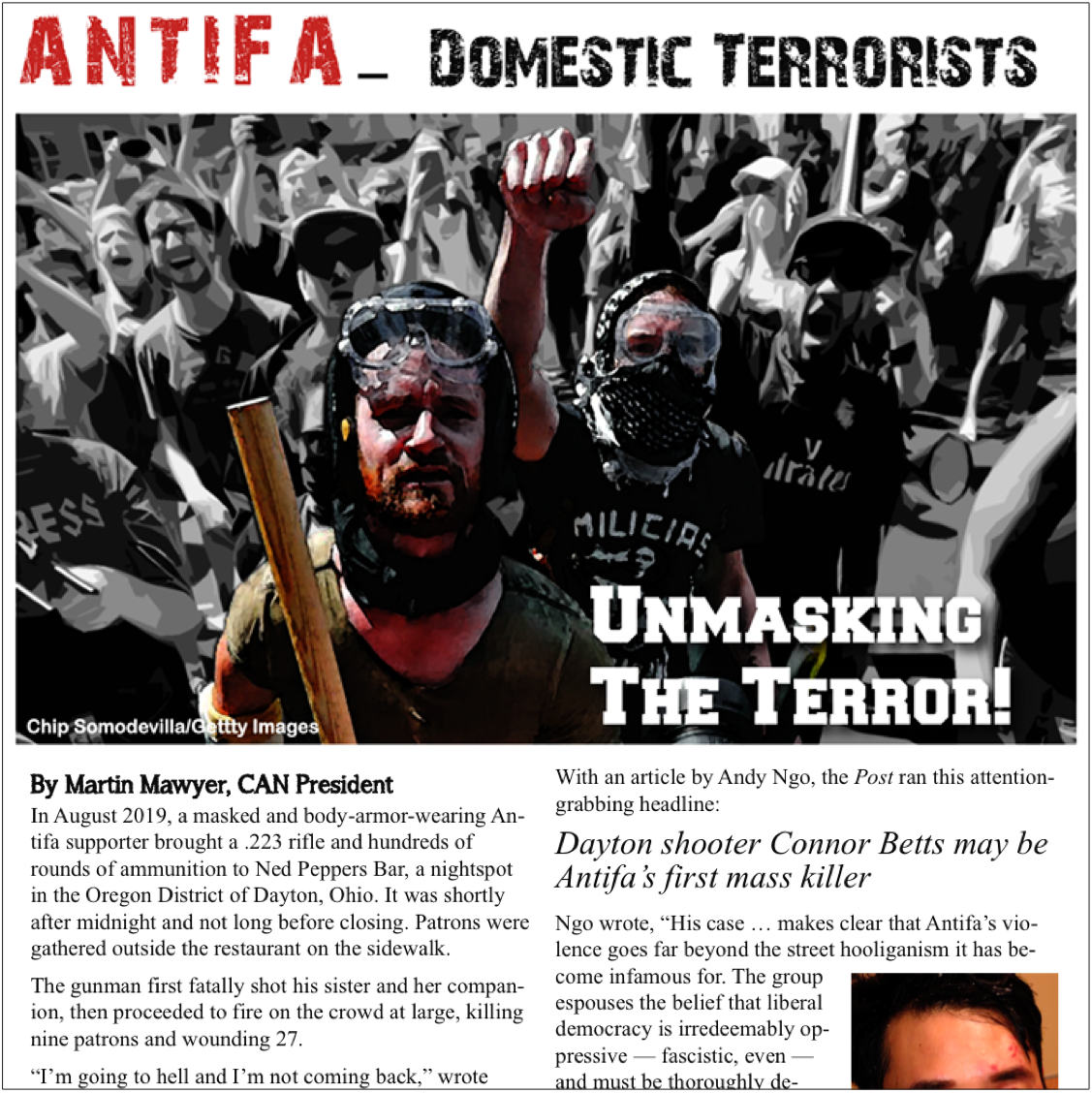 Antifa - Domestic Terrorists Newsletter