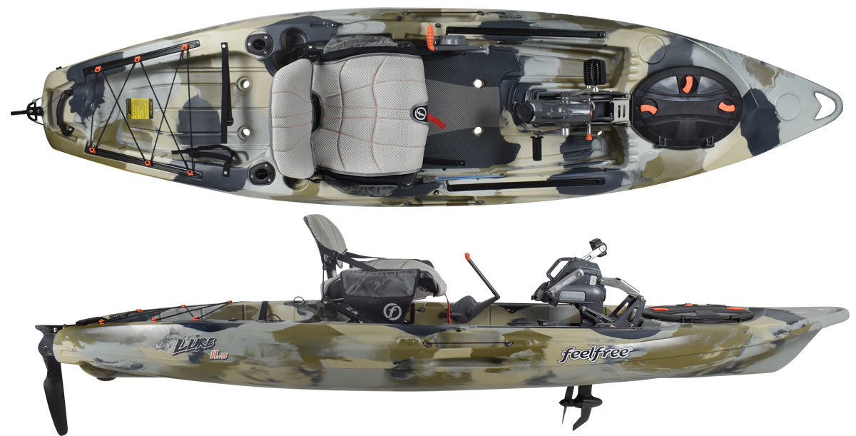 Feelfree Overdrive Lure 11.5 Kayak - Blue Camo