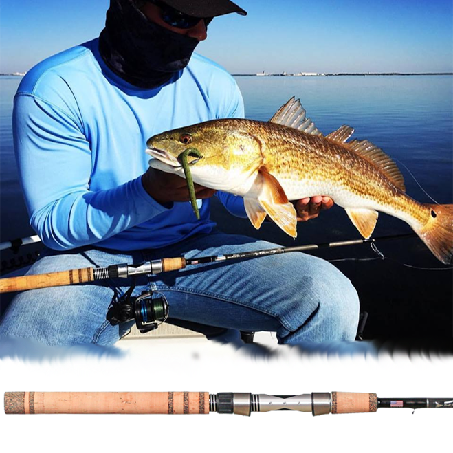 """Bull Bay Real Animals 7'6"""" 8#-17# MH Fast Action Full Cork"""