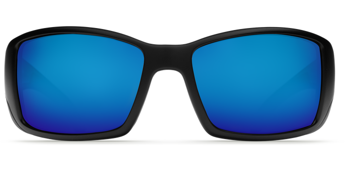 Costa Blackfin 580G Sunglasses - Matte Black/Blue Mirror