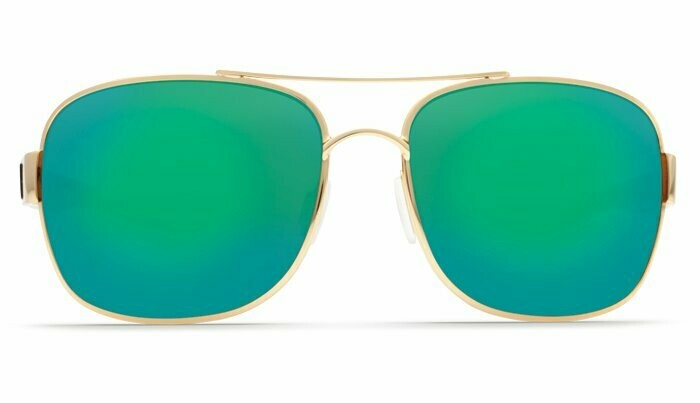 Costa Cocos 580P Sunglasses - Gold/Green Mirror