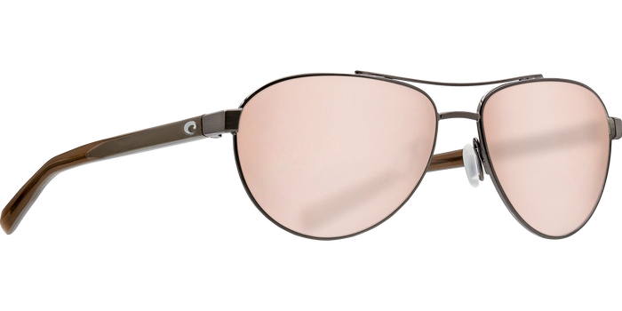 Costa Fernandina 580G Sunglasses - Brushed Gunmetal/Silver Mirror