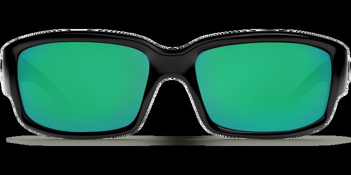 Costa Caballito 580G Sunglasses - Shiny Black/Green Mirror