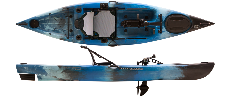 2019 Native Watercraft Manta Ray 12 Propel Kayak - Blue Lagoon