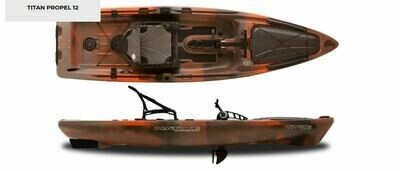 2019 Native Watercraft Titan 12 Propel Kayak - Copperhead